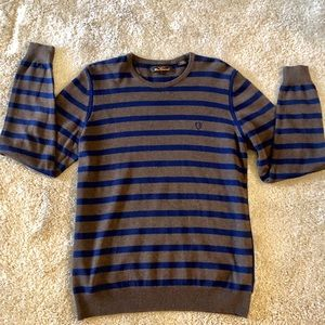 Ben Sherman Stripped Cree Neck Sweater size L NWOT